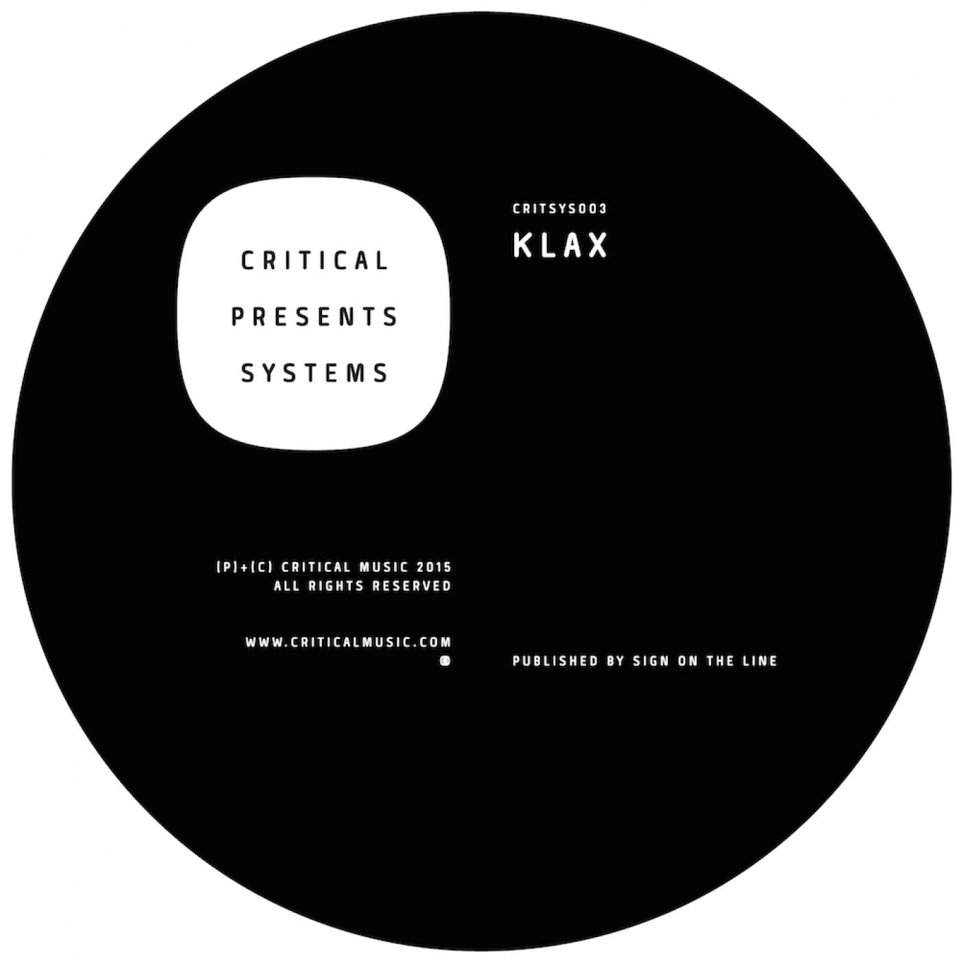 Critical Presents - Systems Vol.2 - Klax