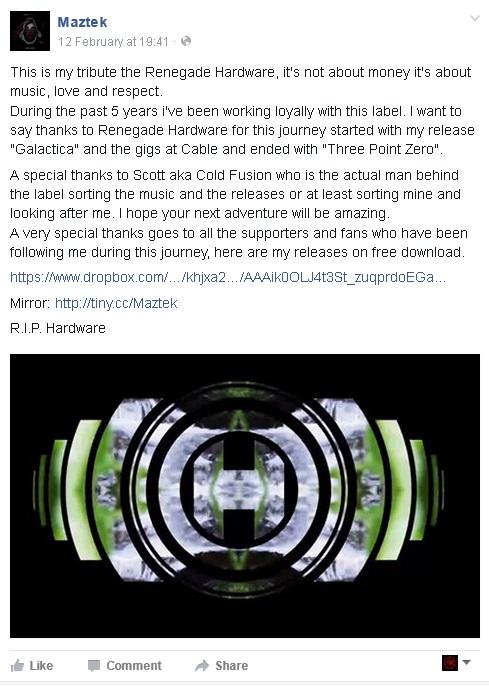 Maztek giving away Renegade Hardware releases